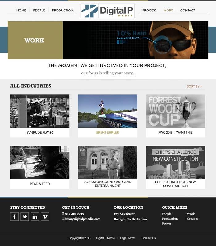 Digital P Media Work Page