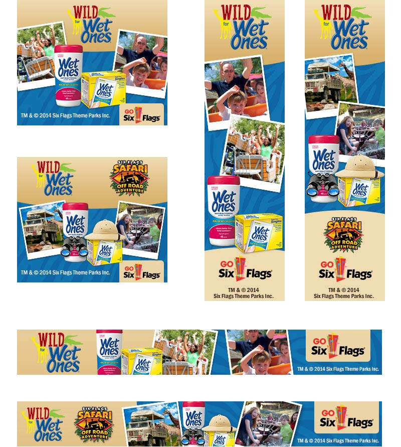 Wet Ones/Six Flags Banner Ads