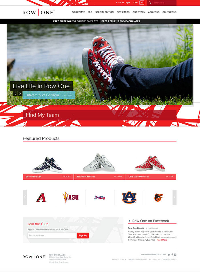Row One Brands Home Page