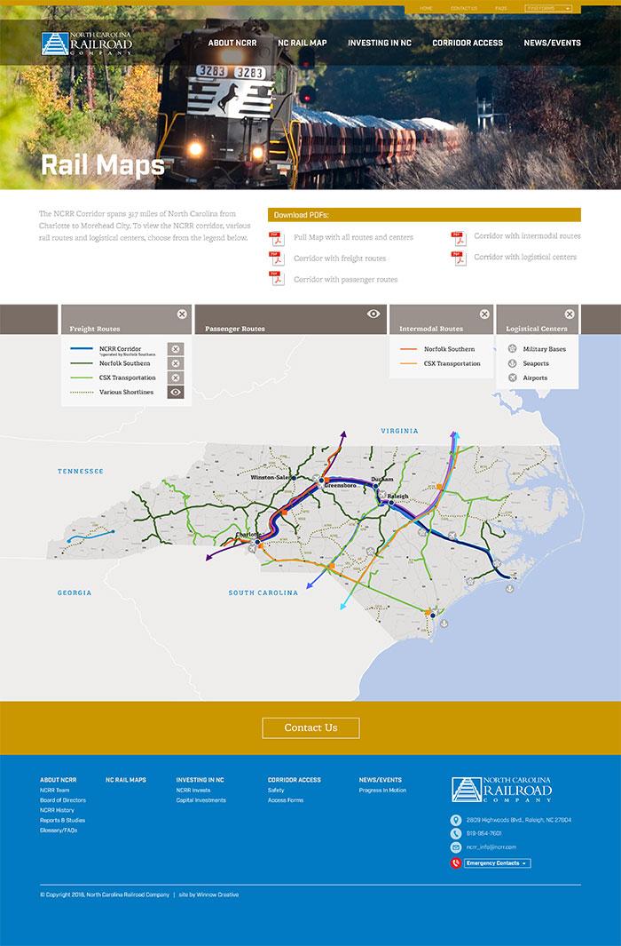 North Carolina Railroad Map Page