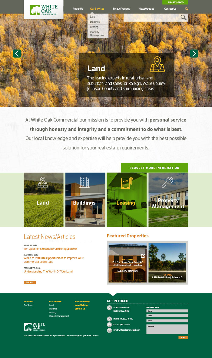 White Oak Commercial Home Page