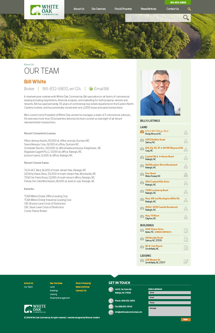 White Oak Commercial Team Member Page