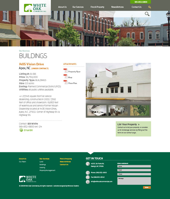 White Oak Commercial Property Details Page
